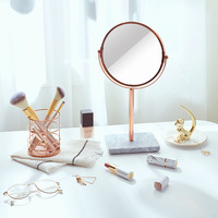 1pc Nordic Style Modern Minimalist Makeup Mirror Decoration Girl Room Dressing Table Practical Small Fresh Furnishings G0504