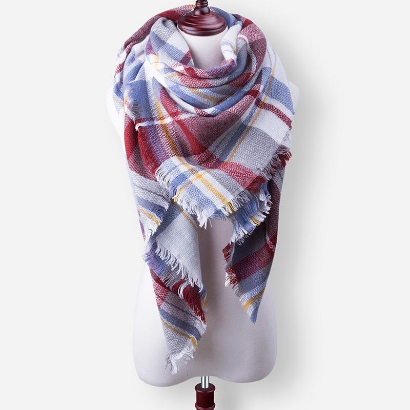 Бренд Evrfelan, шарфы, Прямая поставка, женский зимний шарф, высокое качество, плед, одеяло, шарф и шаль, большой размер, плотные шарфы, шали - Цвет: W31