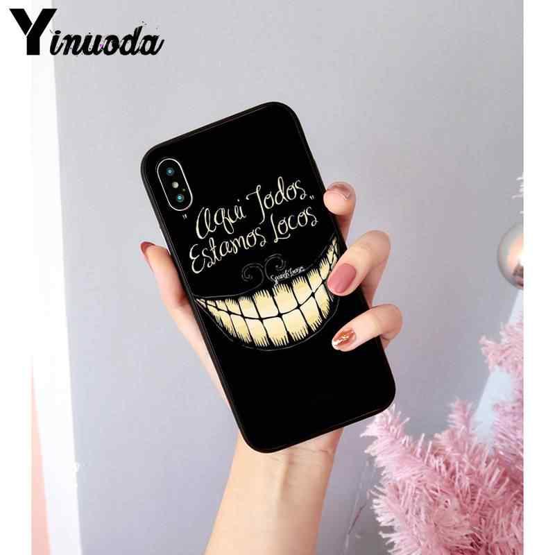 Yinuoda alicja w krainie czarów moda cartoon śmieszne słodkie telefon dla iPhone8 7 6 6S6Plus X xs max 5 5S SE XR 10 11 11pro 11promax