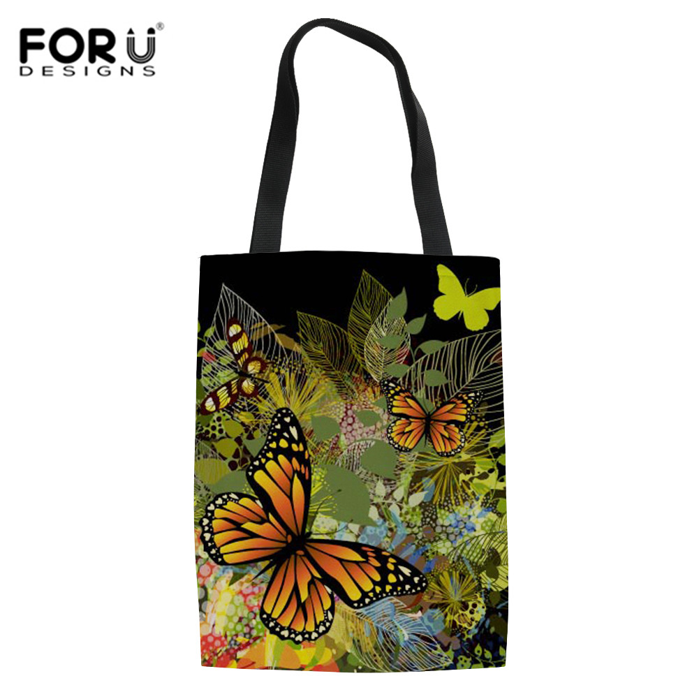 FORUDESIGNS Shopping Bags For Vegetables Fashion Shopping Fruit Grocery Bag Shopper Tote Shoulder Bag Hand Tote Home Storage Bag