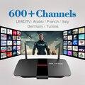 H.265 RK3128 Quad Core Caixa de TV Android 1080 P HDMI 2.0 WI-FI 1G RAM 8G ROM HD Árabe Iptv Conta Europa Francês Itália Espanha da Tunísia