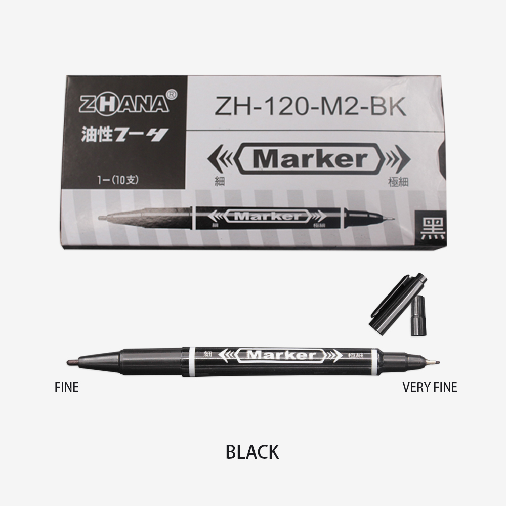 3 PCS Marker Pens Skin Marker Pen Scribe Tool permanent Tattoo Supplies Good Waterproof Ink Thin Nib Crude Nib New Portable 5