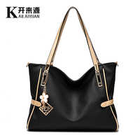 KLY 100% Genuine leather Women handbags 2019 New package cool style atmosphere female fashion Crossbody Shoulder Handbag