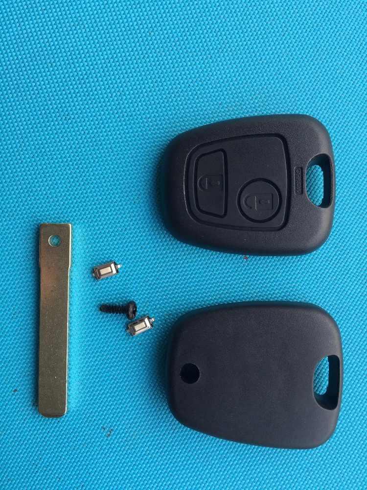 ZABEUDEIR 1pc חדש החלפת מקרה עבור סיטרואן C1 C2 C3 C5 2 כפתורים מרחוק מפתח Fob מעטפת מיקרו מתגים נימול VA2 להב אין לוגו