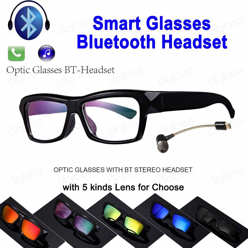 TR90 lunettes optiques ou UV400 lunettes de soleil polarisées Bluetooth 4.1 casque stéréo écouteur Microphone pour iPhone Huawei Xiaomi C1-BT