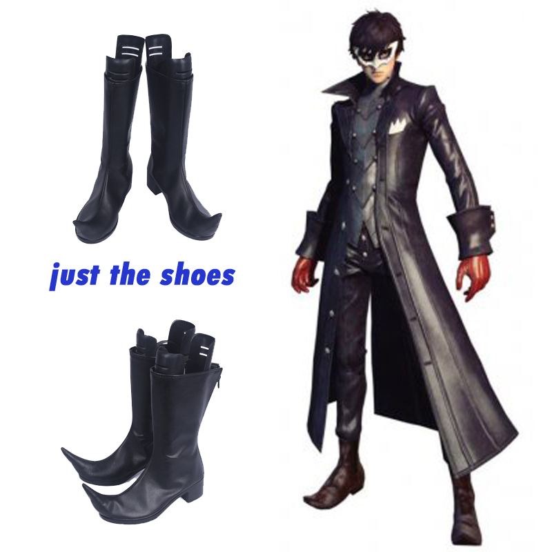 New Persona 5 Joker Kaitou Cosplay Costume Game Cos Shoes Halloween Boots Pary Cosplay Custom Made