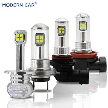 moderne auto 2525 chip 8smd mistlamp led lampen h1 h7 h8h11 9006hb4 auto drl daytime rijden licht 6000 k 9005 h16 fog lamp bollen