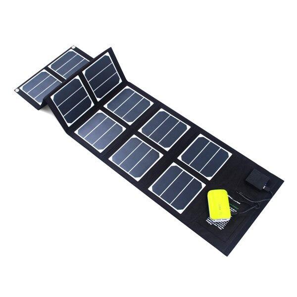 40w Sunpower folding solar panel for laptops, tablets
