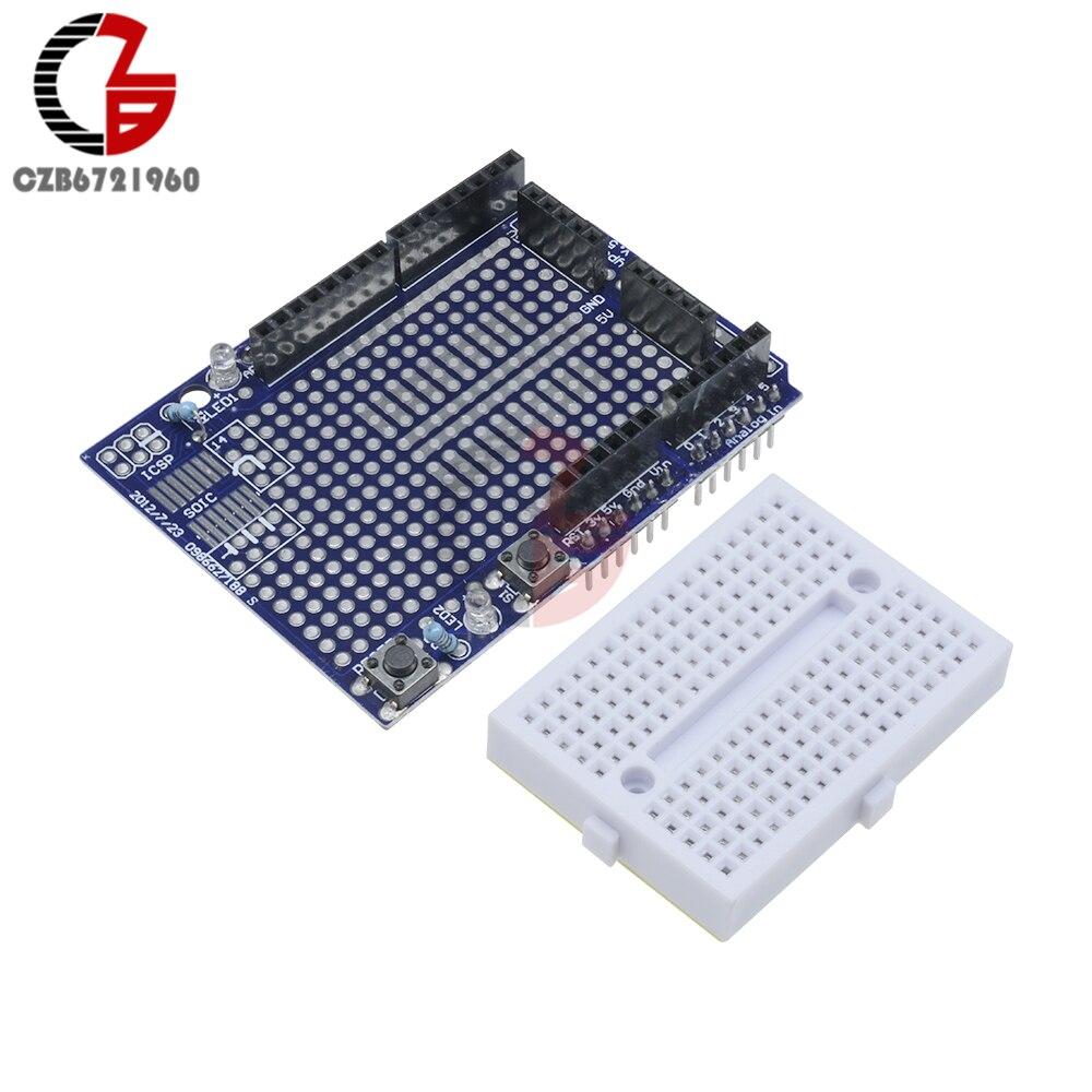 Mini Solderless Prototype Breadboard Bread Board for Arduino Shield Black HP