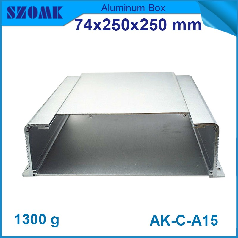 electrical project aluminium box10 pcs/lot szomk aluminum electronic enclosure aluminium box 74(H)x250(W)x250(L) mm 4pcs a lot diy plastic enclosure for electronic handheld led junction box abs housing control box waterproof case 238 134 50mm