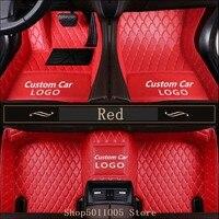 Custom Logo car floor mats for Mercedes Benz A C CLA E class W169 W176 W245 W246 W203 W204 W205 C117 W211 W212 W213 carpet