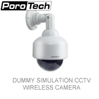 P2100 DUMMY Surveillance Security Simulation CCTV Wireless SPEED DOME FAKE CAMERA Indour Outdoor With LED Light