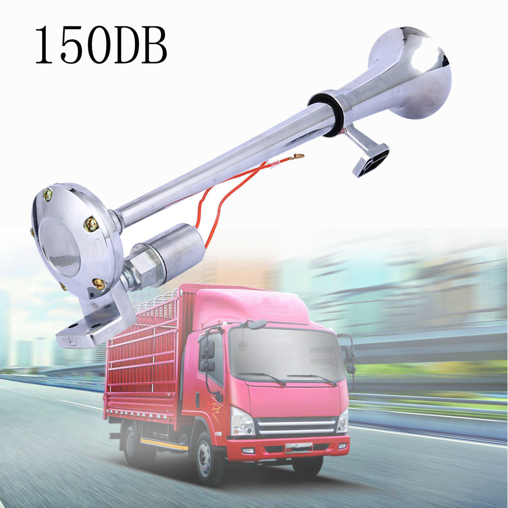 Truck Body Parts Latest Collection Of Universal 150db Single Train Trumpet Car Air Horn Compressor With Super Loud 12v High Quality Beautiful And Bompact L0403 High Standard In Quality And Hygiene