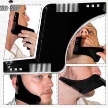 Для мужчин, для формирования бороды, шаблон для укладки, расческа, мужские двухсторонние гребни для бороды, инструмент для красоты, для волос, для стрижки бороды, шаблоны, инновационные, новые