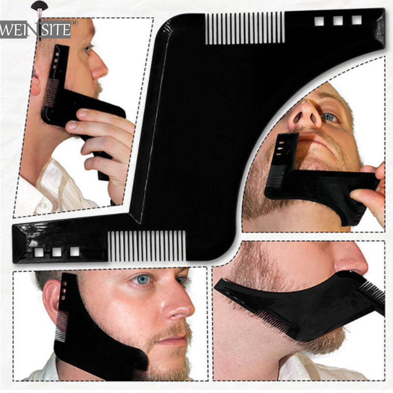New Men Beard Shaping Styling Template Comb Men's Double Sided Beards Combs Beauty Tool for Hair Beard Trim Templates Innovative(China)