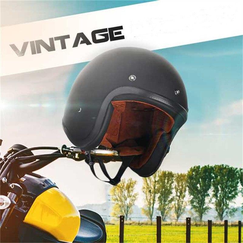1 pièces blanc noir casque de Moto confortable style moderne casque de Moto 3/4 Face ouverte casque universel