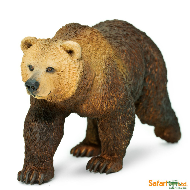 Brand New Safari Animals Figure Toys Ursushorribilis Bear