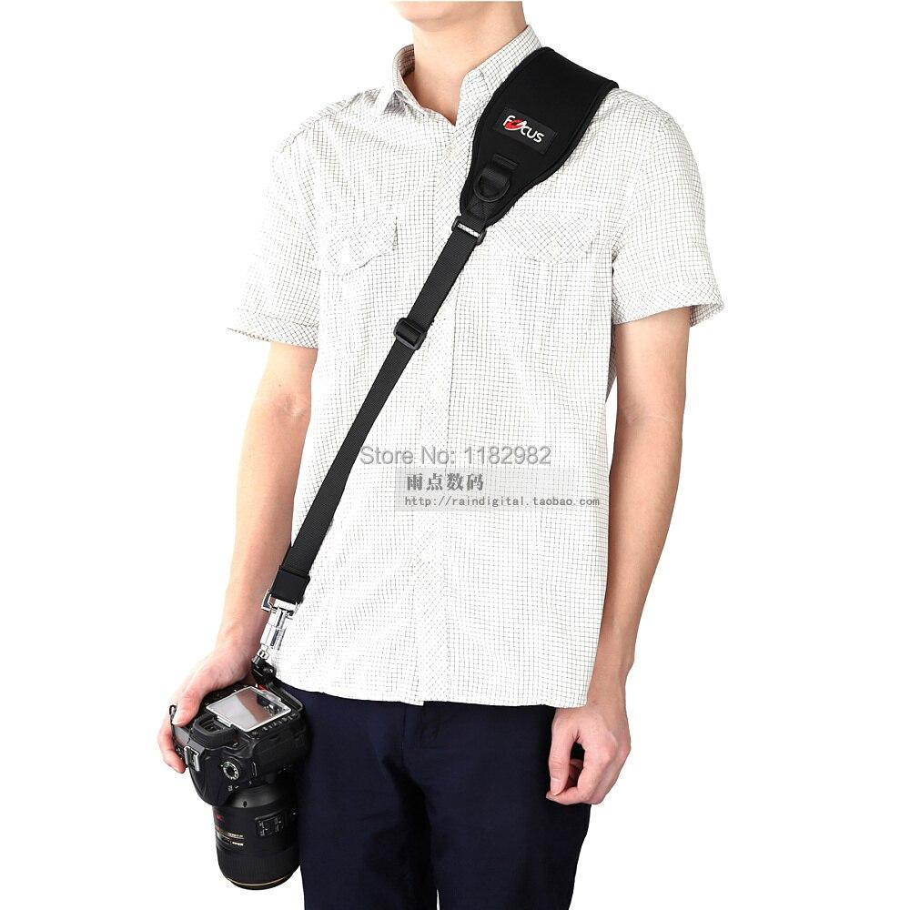 Alça da Câmera Bolsa + Placa de Montagem do Tripé para Canon para Nikon para Sony para Pentax Ombro Rápida Descompressão Strap para Sony Pentax no