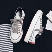 Femmes chaussures décontractées Noctilucent bas haut de base Simple Style à lacets bonne qualité célèbre marque blanc Sneaker fille toile chaussure 35-40