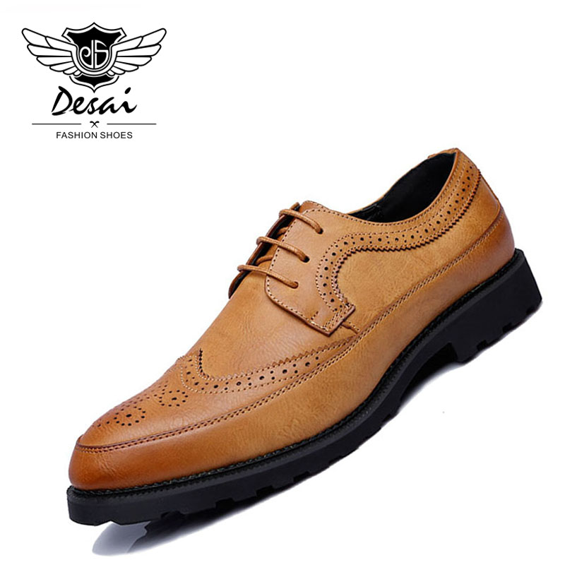 Summer Retra Shoes Men Bullock Pointed Toe Lace Up Shoe Casual Comfortable Oxford Shoes Large Size