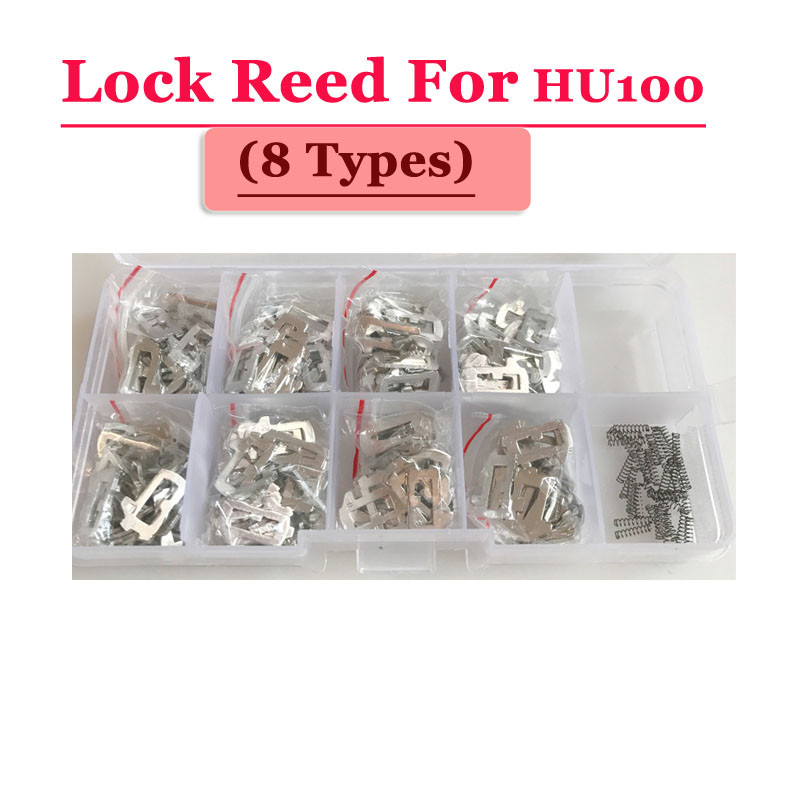 Image 2 - Free shipping (200pcs/box )hu100 car lock reed locking plate for opel lock (each type 25pcs) Repair Kits-in Sensor & Detector from Security & Protection