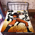 120*200cm Japan Anime Uzumaki Naruto Flannel Blanket on Bed Mantas Bath Plush Towel Air Condition Sleep Cover bedding