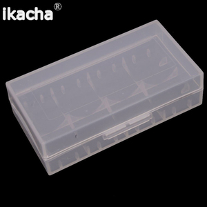 2 шт Пластиковые аккумуляторные защитные коробки для хранения Чехлы держатель для 18650 батареи прозрачные аккумуляторные защитные коробки