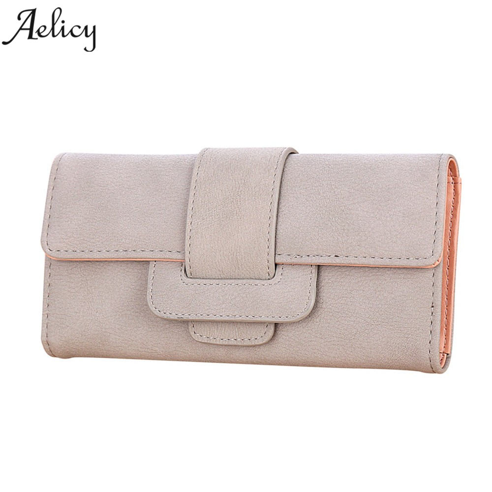 Aelicy Luxury PU Leather Women Long Wallet Coin Purse Wallet Female Phone Card Holder Long Lady Clutch Purse carteira masculina 2018 pu leather women wallet casual long wallet female handbags teenage girl purse coin purse card holders portefeuille femme