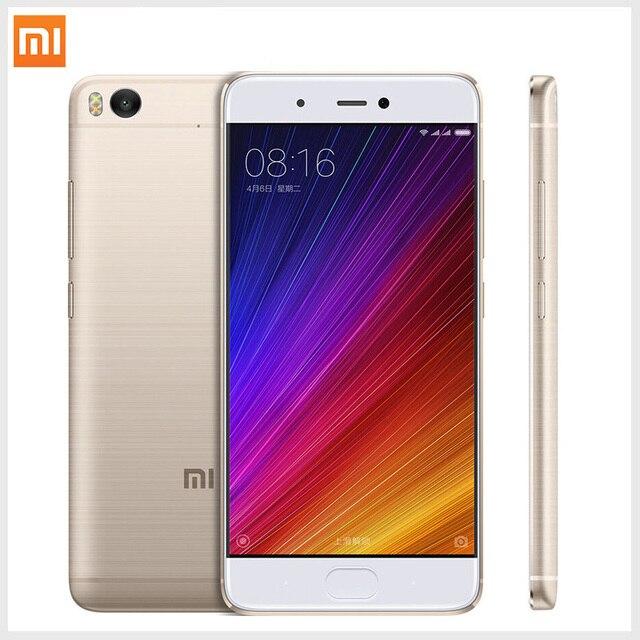 """Оригинал Xiaomi Mi Mi5s 5S 4 ГБ RAM 128 ГБ ROM Мобильный Телефон Snapdragon 821 Cpu: Quadcore 5.15 """"1920 х 1080 Мобильный Телефон Смысле ID Отпечатков Пальцев"""