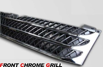 For TOYOTA HIACE 200 Chrome Ghost Mask Grille 2005-2009 YEAR grille