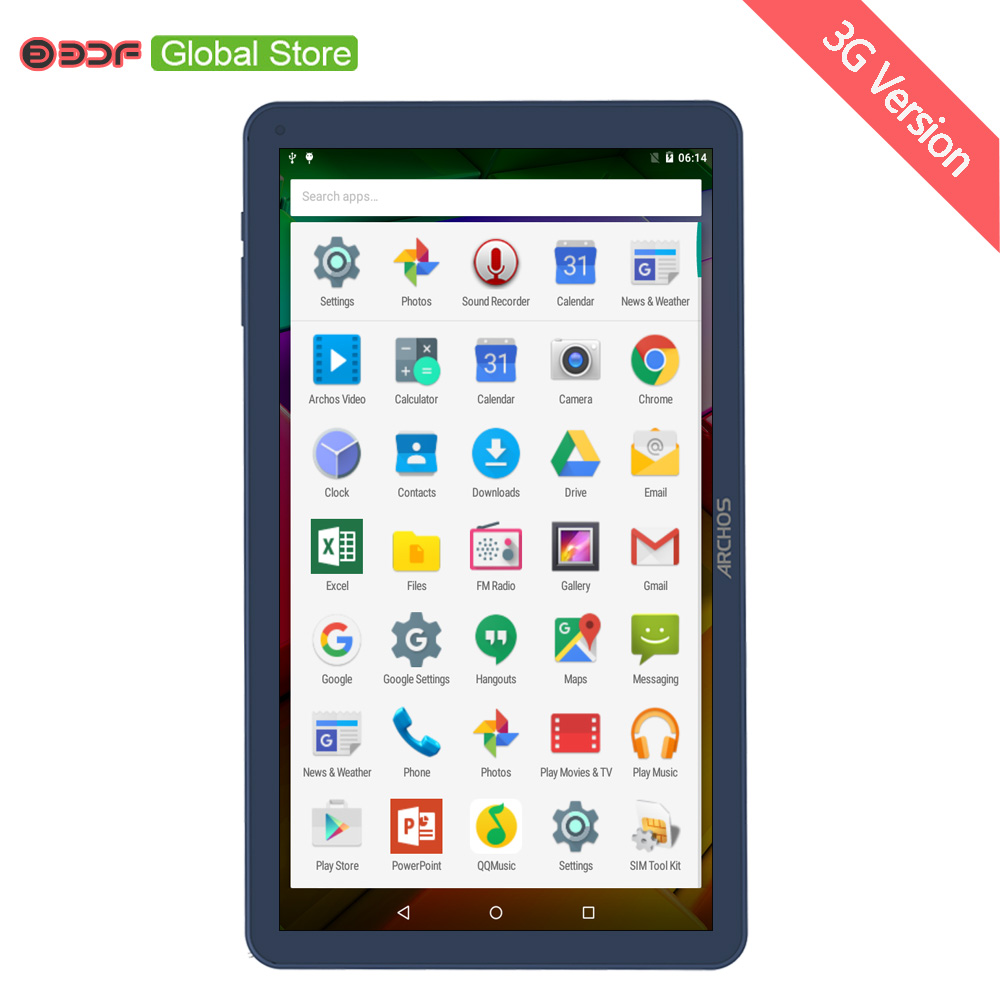 2019  BDF New 10 Inch Tablet Pc  Built-in 3G Double  SIM CARD AND WIFI PC 1024*600  1 GB RAM 16GB ROM Quad Cord Wifi Bluetooth