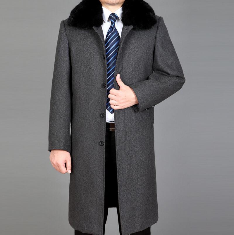 Klassieke Heren Winterjas.Mens Jas Herenmode Klassieke Leisure Lange Trenchcoat Mannen Plus