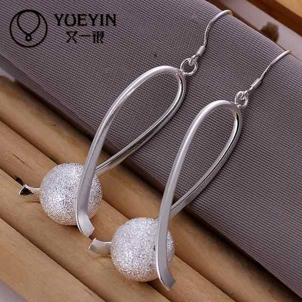 Spherical beads shape silver plated dangle earrings for women long earring drop earring E133
