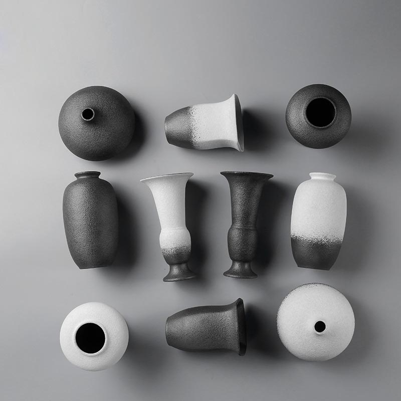 >Chinese <font><b>Traditional</b></font> <font><b>Zen</b></font> Ceremony Ceramic Coarse Pottery Flower Vase Nordic Modern <font><b>Minimalist</b></font> Home Furnishing Desktop Decoration