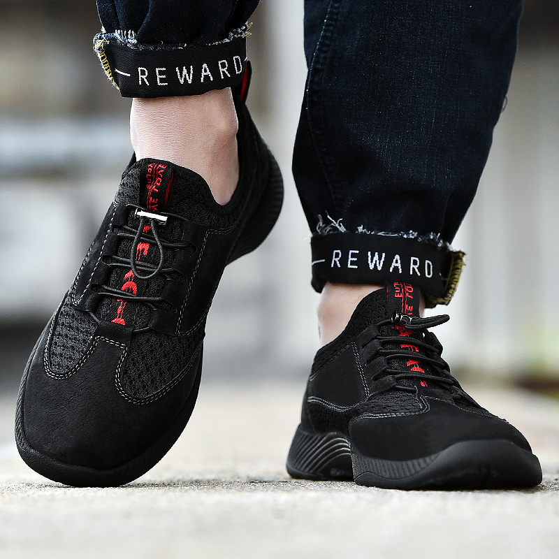 CYYTL New Men 39 s Sneakers 2019 Spring Breathable Soft Walking Shoes Elastic Casual Lightweight Tenis Masculino Zapatos De Hombre in Men 39 s Casual Shoes from Shoes