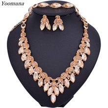 2019 Dubai Gold Jewelry Sets Nigerian Wedding African Beads Bridal Jewellery Set necklace Jewelry Sets for women Design(China)