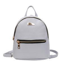 b3d52c3b2 Kobiety moda Mini Plecak PU Skóra College Ramię Tornister Szkolny Plecak  Ladies Dziewczyny Dorywczo Torba Podróżna
