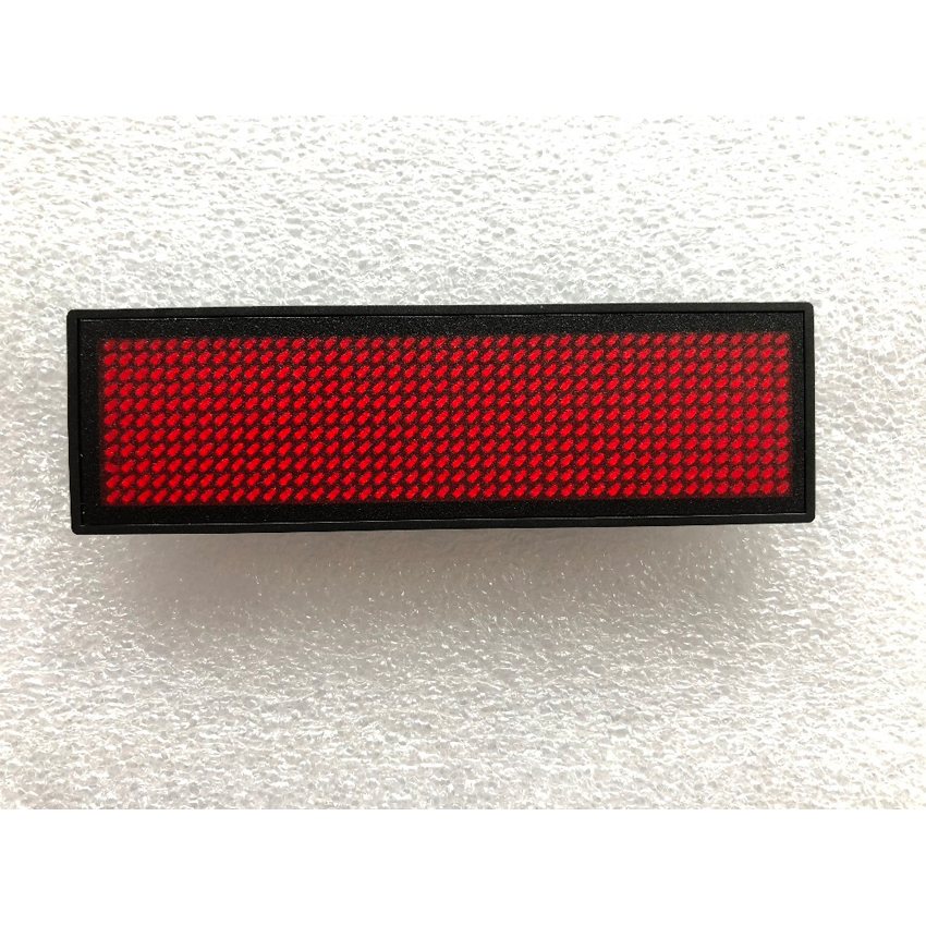 HD-NT44 Red Color Scrolling Message Led Name Badge 44x11 Pixel Single Color USB Rechargeable Led Name Tag For Chest Card Label