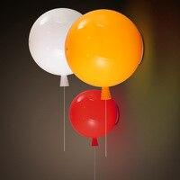 6 cores balão acrílico luminária de parede casa deco quarto crianças quarto e27 lâmpadas de poupança de energia lâmpada de parede