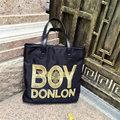 Nova Moda Feminina Shoulder Bag Oxford + Couro Carta Bordado Stripe Designs Bolsa Grande Capacidade Ocasional Das Senhoras Tote
