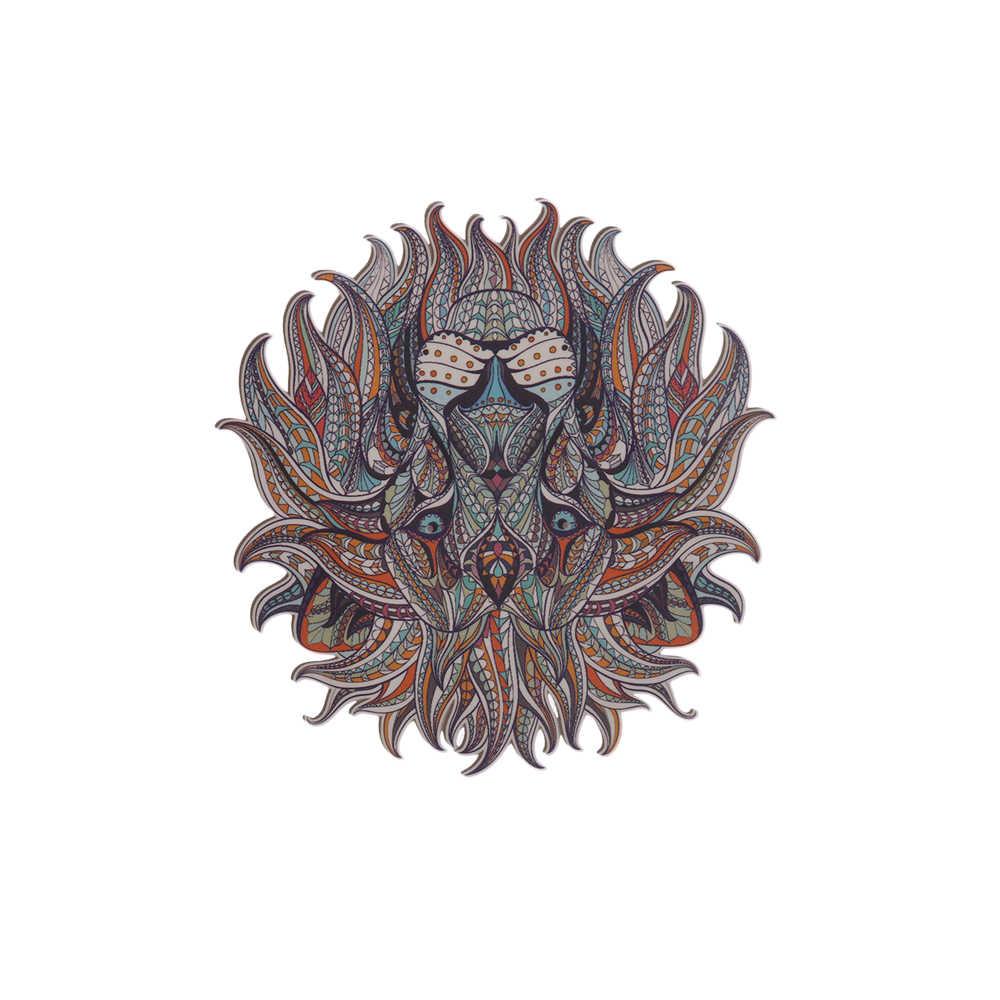 Transferência de ferro-on Patches Roupas Legal 3D Rei Leão Adesivos para Tops T-shirt DIY Casa Decoração Appliqued para Tote cortina