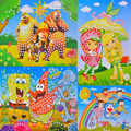 1 pc grande adesivo de diamante de cristal 3D criativo design de crianças handmade mosaic art sticker brinquedos educativos para a primeira infância