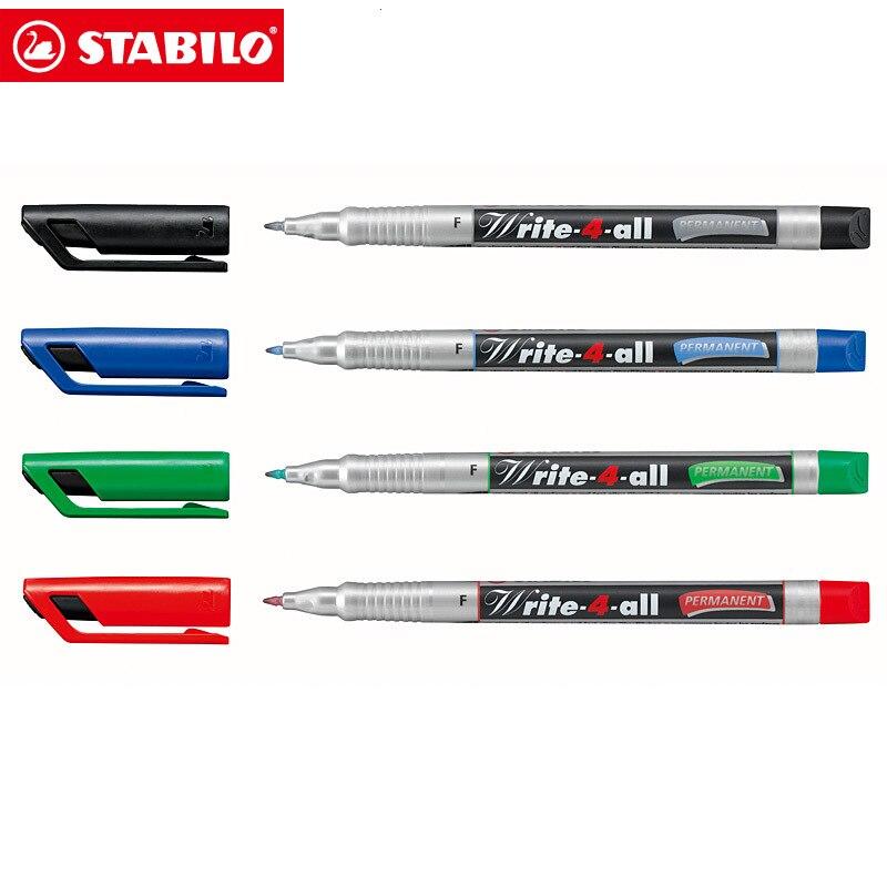 4 Pc marcador permanente pluma Set-Negro Rojo Azul Verde