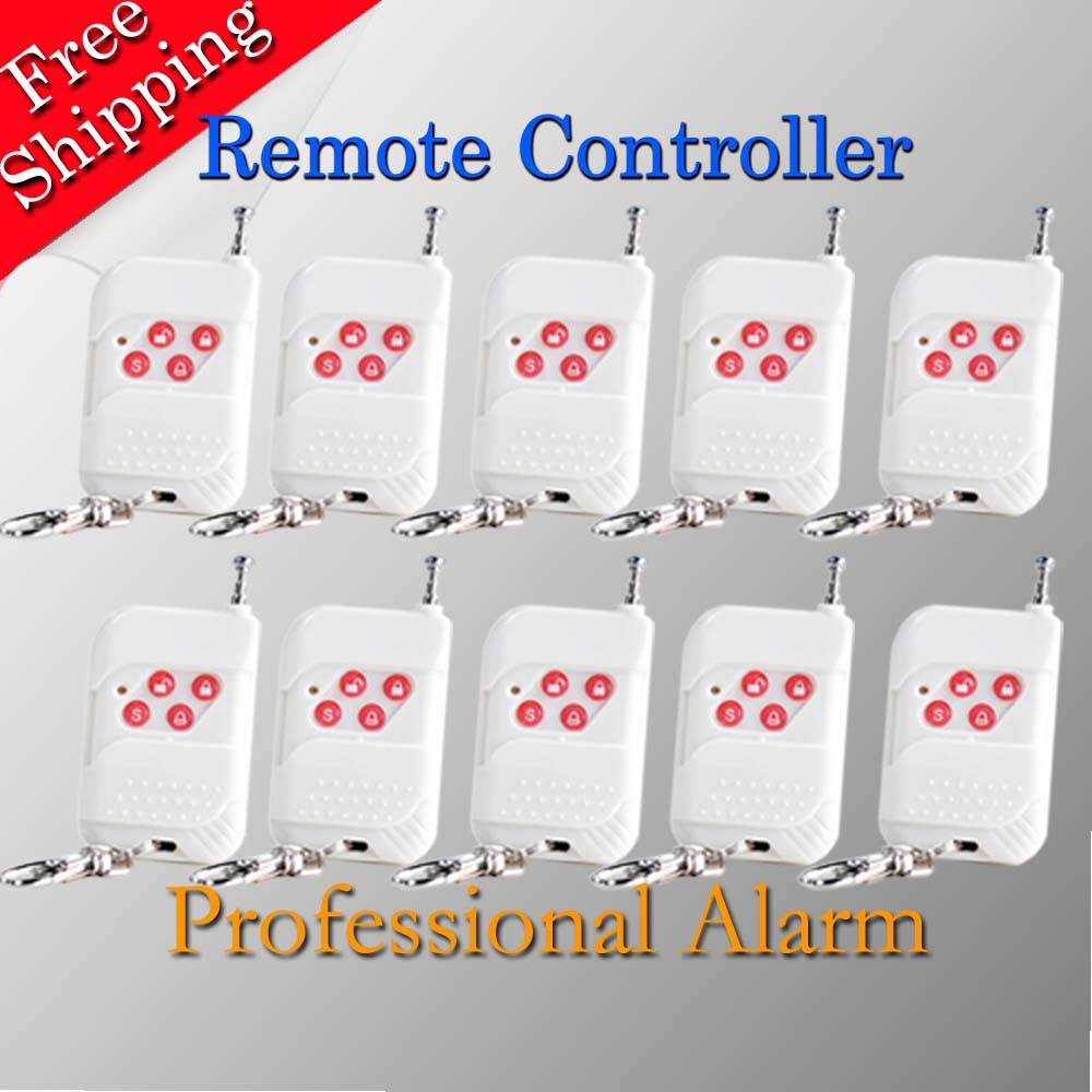 Free Shipping Wireless Remote Controller  10  pcs For GSM Alarm System Also For IP Camera In my Shop 433MHz Popular Design wholesale 315mhz 433mhz remote controller for gsm alarm system