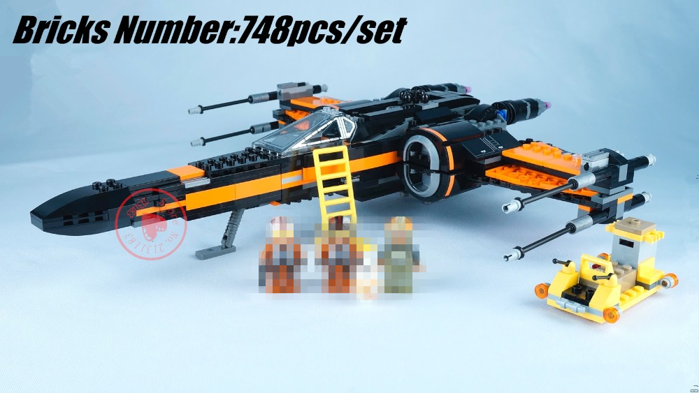 05004 Space Star wars First Order Poe X-Wing Fighter lepin model Building Blocks bricks BB-8 compatible legoe kid gift set 79012
