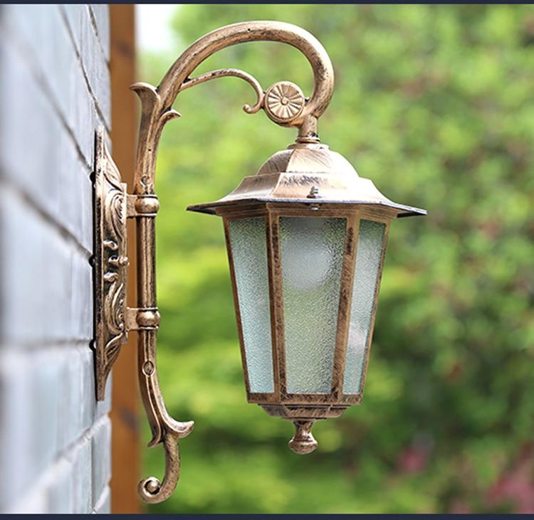 ФОТО Waterproof outdoor lamp lamp outdoor wall lamp European courtyard terrace