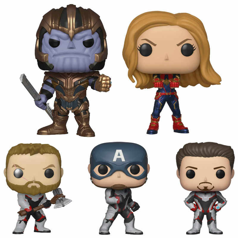 FUNKO POP Avengers 4 Endgame Movie Collection Dolls Iron Man American Captain Tyrants Kid Birthday Gift Model Toys Original Box