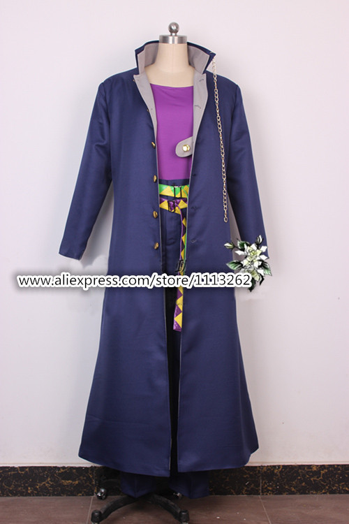 Free shipping New Custom made High quality JOJO s Bizarre Adventure Jotaro Kujo Cosplay Costume