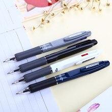 Caneta esferográfica de tinta dupla, caneta esferográfica de tinta azul e vermelha com ponta dourada, para escritório e negócios, estudante, 1 peça