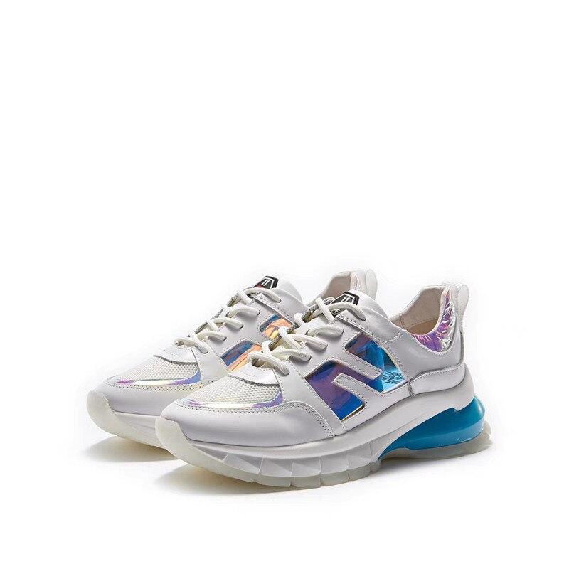 Mode Des Mélangée Papa Décontractées forme Couleur Chaussures Espadrilles De Femmes Baskets Plate white Épaisse Marque Luxe Delivr Femme Semelle Black Chunky xBdCoWer